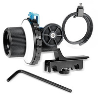 Neewer A-B Stop Follow Focus with Quick Release and Gear Ring Belt Mount for DSLR Cameras Camcorder Fits Shoulder Supports