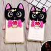 Black Cat Silicone TPU LED Flash Light Up Remind Incoming Call Cover Phone Case For IPhone