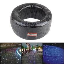 黒カバー端グロー光ファイバケーブル 350 メートル高輝度 0.75 ミリメートルに 3 ミリメートル PMMA プラスチック光ファイバライトを装飾するためのプロジェクト