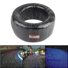 Czarna okładka koniec świecące włókno kabel światłowodowy 350m High Bright 0.75mm do 3mm PMMA plastikowe światłowody światło do dekoracji projektu