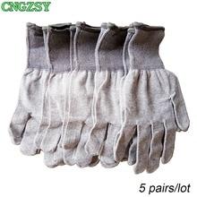 5 pairs statico libero wearable stretto di lavoro in fibra di carbonio guanti di nylon dellinvolucro dellautomobile finestra tinte strumenti ausiliari lavorato a maglia guanti 5D08