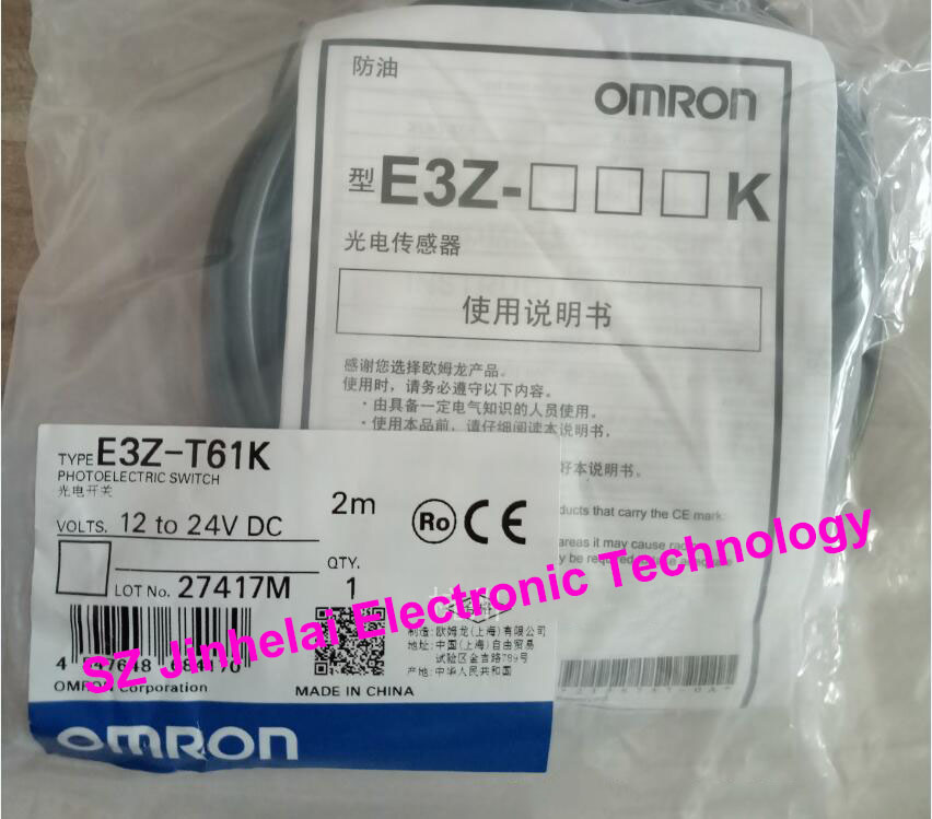 New and original E3Z-T61K, E3Z-T61K-M3J OMRON Photoelectric switch 12-24VDC new and original e3z ll86 e3z ls86 omron photoelectric switch 12 24vdc