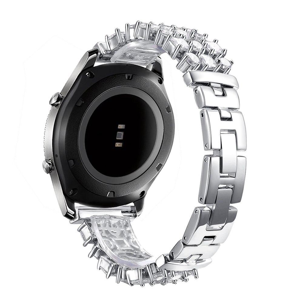 Bracelet en diamant Bling pour Samsung Galaxy Gear S3 bande en acier inoxydable strass frontière classique pour montre galaxie Bracelet 46mm - 5