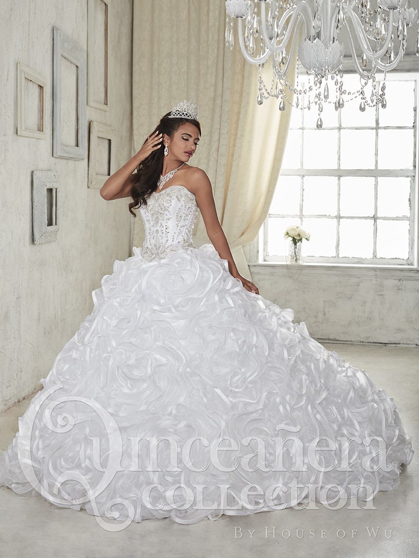 Wedding White Quinceanera Dresses popular white quinceanera dress buy cheap hot 2017 ball gowns tulle ruffled sheer back luxury beaded crystal prom gown