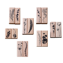 Vintage Plant series wood stamp DIY craft wooden rubber stamps for scrapbooking stationery standard