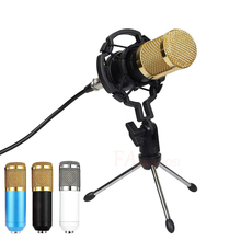 BM 800 Microphone Condenser Sound Recording Microphone With Shock Mount For Radio Braodcasting Singing Recording KTV Karaoke Mic недорого
