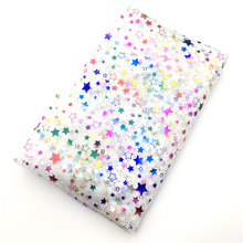 5 Yards Colorful Soft Mesh Tulle Fabric Golden Sliver Star Glitter Party Home Decor DIY Sewing Tutu Wedding Decoration