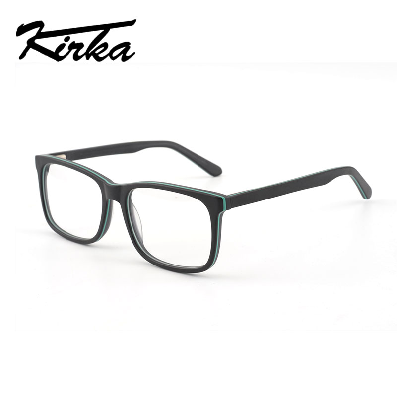 38a2c44fb3 Kirka Classic Acetate Square Reading Eyeglasses Frame Men Myopia Glasses  Eye Glasses Frames for Male Optical