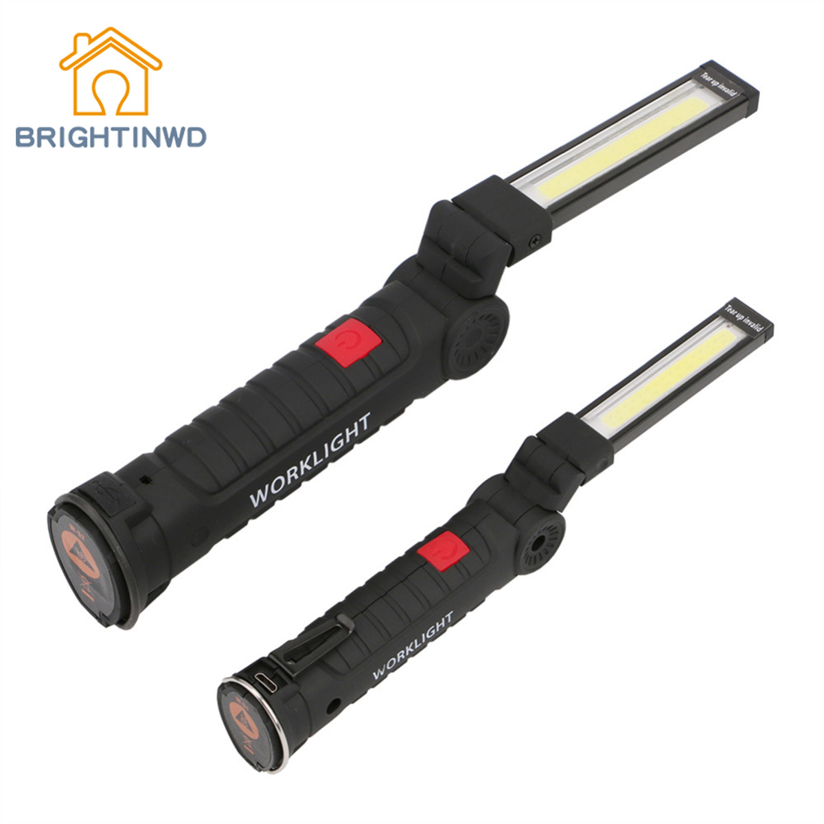 Tent Lamp USB Rechargeable LED Flashlight Torch Magnetic Working Folding Hook Lights Outdoor Lanterna 3-Mode COB LED Camping
