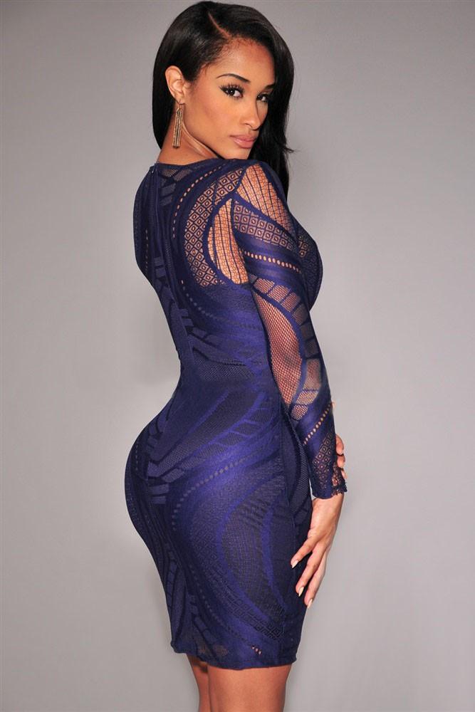 BlackFriday 5 Color 2015 Vestido de festa Women Royal Blue Lace Nude ... cdac9b1169c0