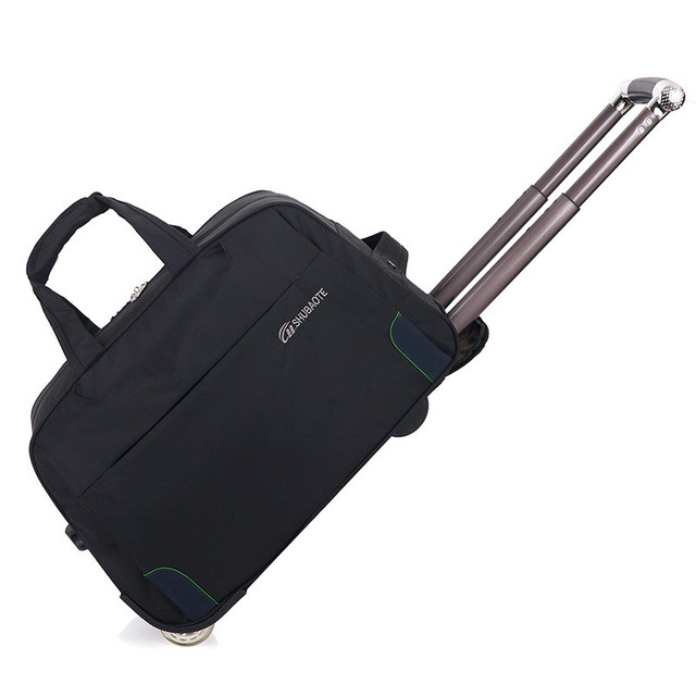 Trolley Travel Bag Hand Luggage Rolling Duffle Bags Waterproof Oxford Suitcase Wheels Carry On Uni