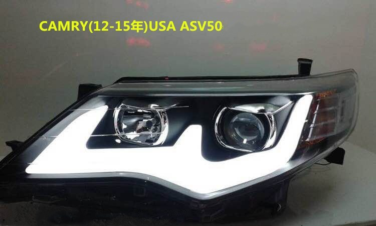 eOsuns headlight assembly for Toyota CAMRY 2012-2014 ASV50 USA ,2pcs