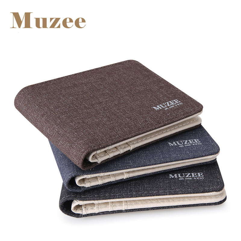 2017 New Retro Man Canvas Wallets Male Purse Fashion Card Holders Small Zipper Wallet New Designed