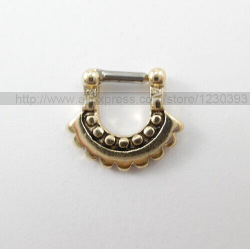 2015 Sale Jewelry Piercing Navel Design 316l Surgical Steel Aztec Moon Septum For Clicker Nose Ring Stud Piercing 15pcs