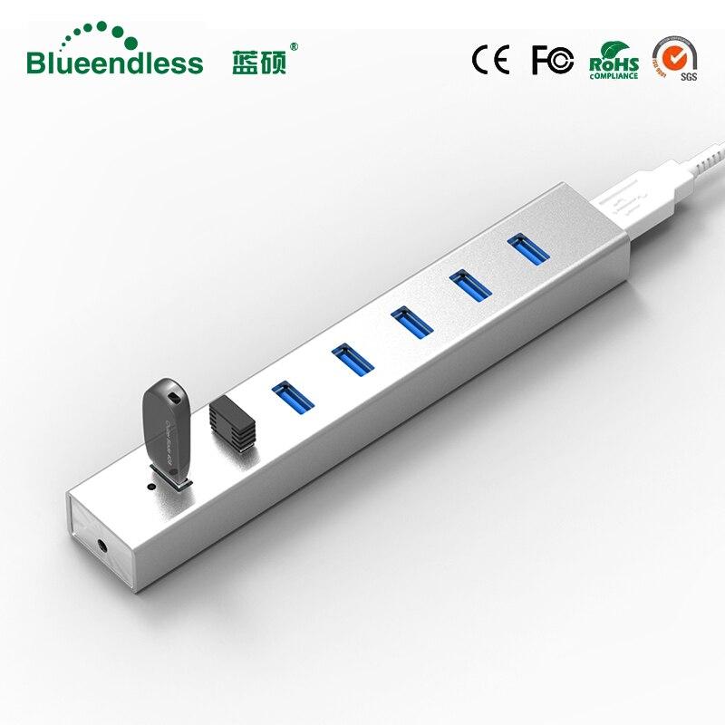 5 GBPS Haute Vitesse 7 Ports USB 3.0 HUB Avec On/Off USB Hub Pour Ordinateur Portable De Bureau de L'UE livraison Gratuite # H702U3