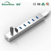 5GBPS High Speed 7 Ports USB 3.0 HUB With On/Off Switch USB Hub For Desktop Laptop EU Free Shipping #H702U3