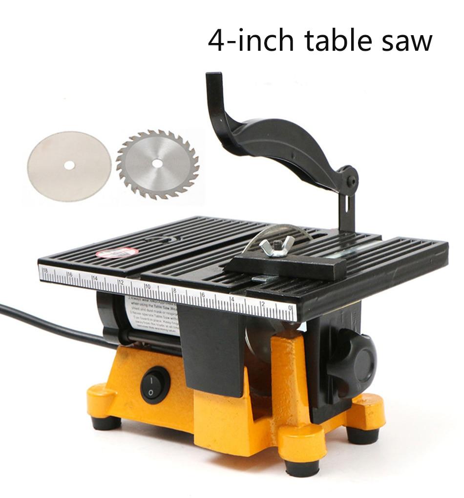 High Quality 220V/110V 60W Mini Table Saw/Mini Bench Saw Alloy Blade Diamond Blade Cuts Stone Wood Copper Aluminium Lead