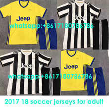 2017 Thai best Quality Juventuses Adult kit soccer Jersey 17 18 Man suit Home Away 3RD free shipping