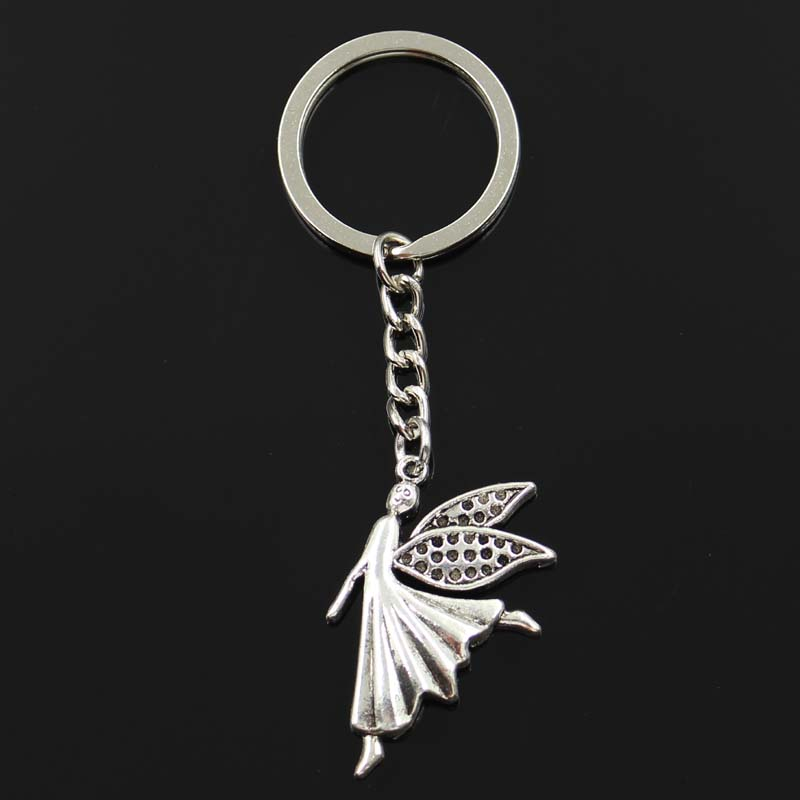 Jewelry Sets & More Conscientious Fashion Guard Angel 37x23mm Pendant 30mm Key Ring Metal Chain Silver Men Car Gift Souvenirs Keychain Dropshipping Attractive Designs; Jewelry & Accessories