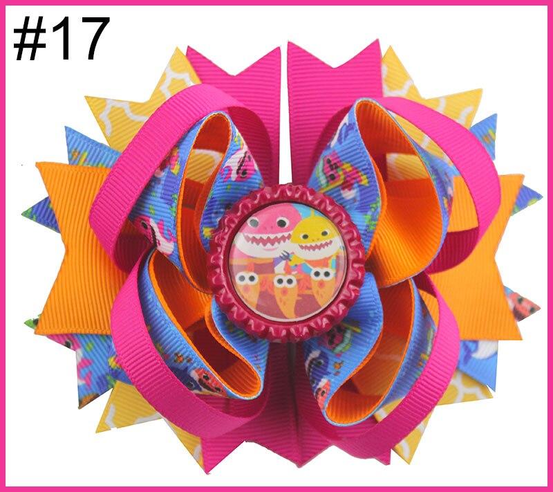 24 шт. мультфильм банты для волос с Детские Луки куклы зажимы девушка волосы луки для детей девушка волосы - Цвет: 20181229017