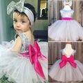 Niños Niñas Vestido de Lentejuelas vestido de Bola de la Fiesta de Cumpleaños de La Boda de dama de Honor Del Desfile de La Muchacha de la Venda de Tul Ropa Vestidos