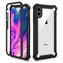 CYATO Shockproof Case Clear Back For iPhone XS Max XR X 6 6S 7 8 Plus 360 Protective Cover Candy Metal Button Hard Coque Capa