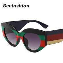0ce96d0ec503b Italy marca de Design de Luxo Gato Olho Quadro Óculos de Sol Óculos De Sol  Mulheres Tricolor Feamel Vanguard Rainbow Color Fresc.