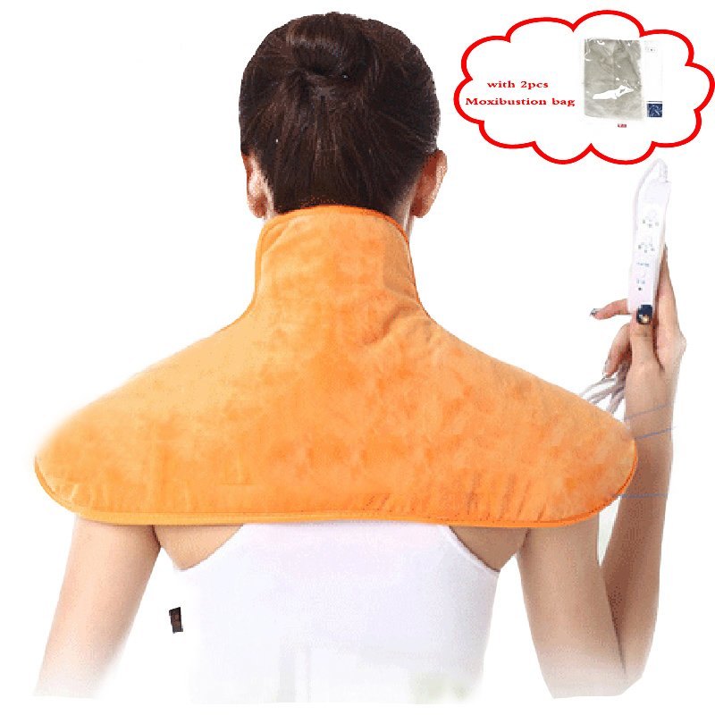 Electric Neck Massager shawl shoulder warm heating pad Hot compress moxibustion shawls with 2 packs Moxibustion bag health careElectric Neck Massager shawl shoulder warm heating pad Hot compress moxibustion shawls with 2 packs Moxibustion bag health care