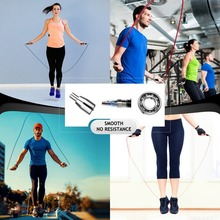 High Speed Jump Rope Skipping Self-Locking 360 Degree Spin Silicone Grip Cables Train Home Gym Fitness Workout AdjustableN