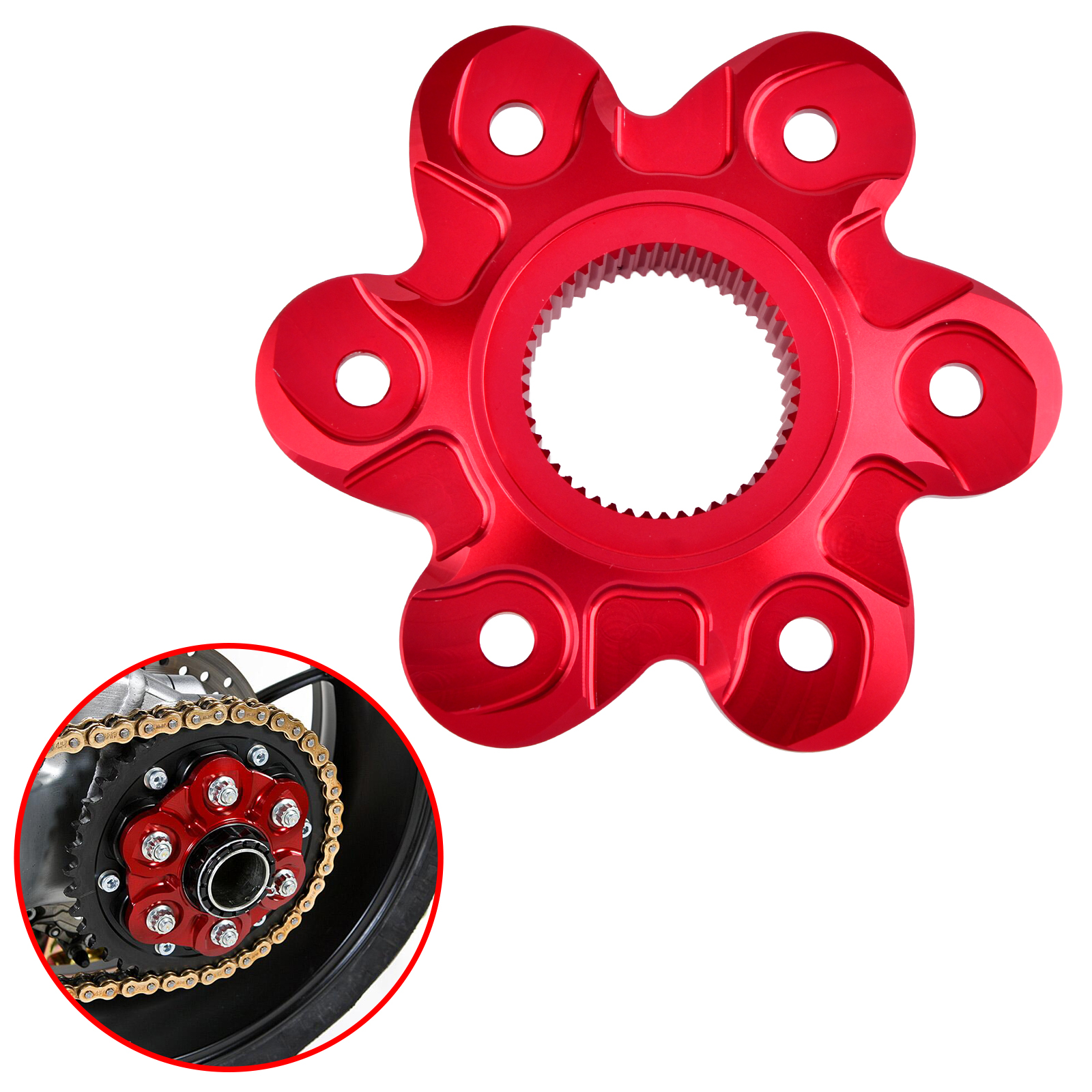 Rear Sprocket Cover Drive Flange Cover For Ducati Superbike 1098 1198 1199 1299 Monster 1200 Diavel