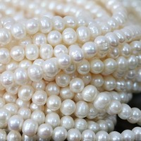 Elegant Natural 7 8mm White Freshwater Cultured Pearl Bloose Eads Charms Women Wholesale High Grade Jewelry