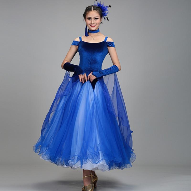 Black Standard Ballroom Dress Woman Ballroom Dance Dresses Ballroom Waltz Dresses Standard Modern Dance Costumes Tango