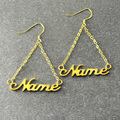 Custom Name Earring,gold plated Earring in Handmade,Personalized Wedding Earring, Alison font,Unique Silver Earring