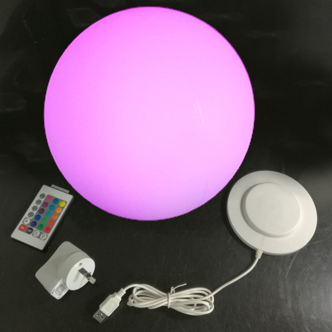30*30*30cm Lumineux Led Ball illuminated 16 Color Changing Round ball Table Lamp Lights free shipping 5pcs/lot 5pcs lot free shipping ad579jn ad579ln ad579kn ad579 dip new 5cs lot ic