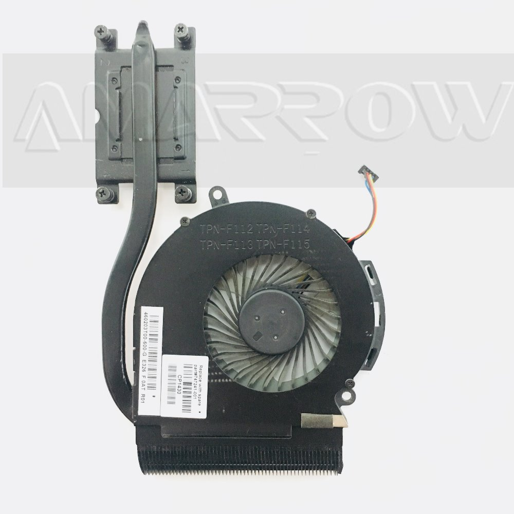 Original free shipping laptop heatsink cooling fan cpu cooler For HP 14-A 14-D 15-D 246 240 250 G2 CPU heatsink 747241-001(China)
