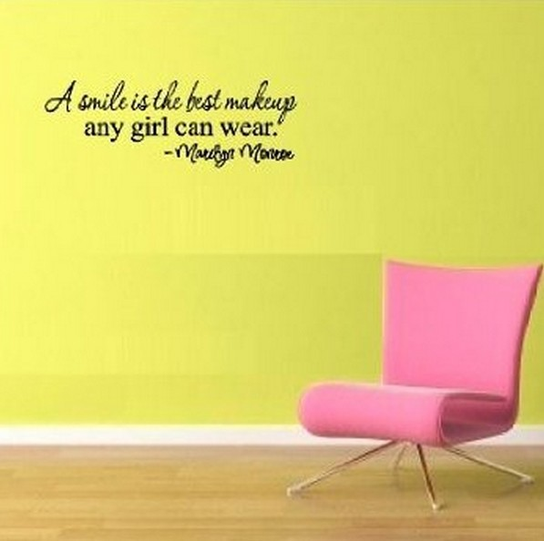 A smile is the best makeup any girl can wear MARILYN MONROE wall art ...