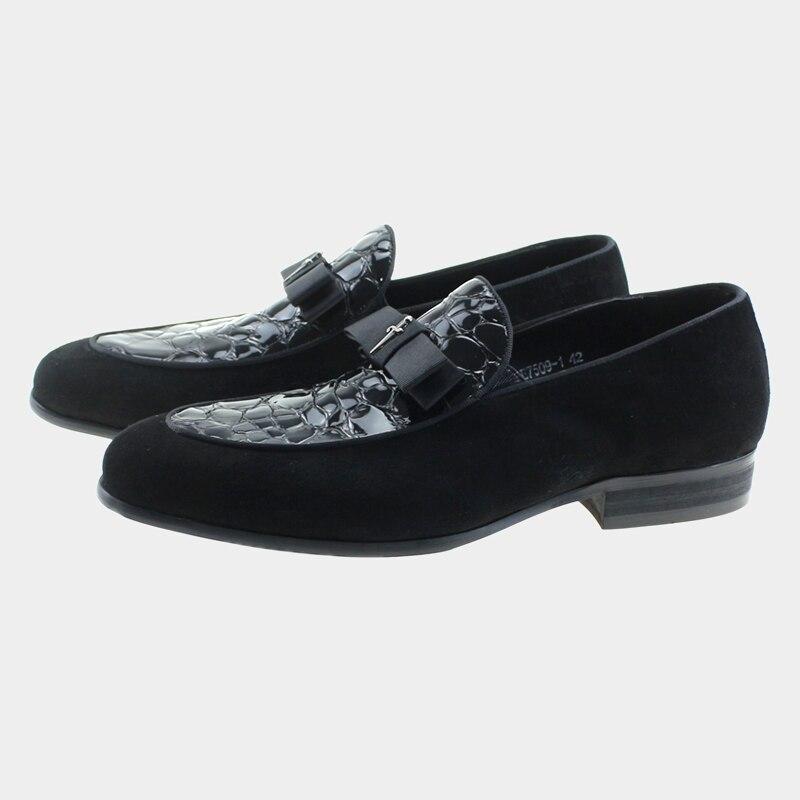 Genuine Patent And Nubuck Leather Slip On Men Shoes Bowtie Loafer Formal Wedding Party Dress Business Office Suit Man Footwear польские шины profil tornado f1 купить в минске