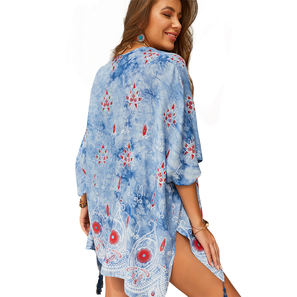 2019 Summer Women Mini Dress Casual Blouse Shirt Dress Short Beach Dresses Loose Half Sleeve Party Vestidos Free Shipping in Dresses from Women 39 s Clothing