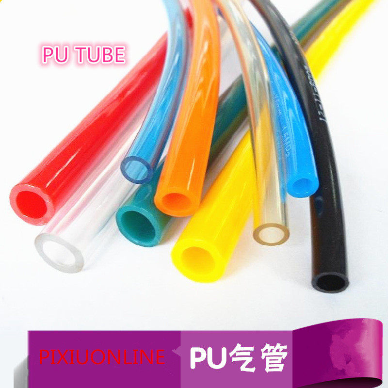 1PCS/lot YT890b PU TUBE Pneumatic Hose Air Compressor Pipe Polyurethane Tube OD 6 mm* ID 4 mm Plumbing Hoses 1Meter Free Shiping industrial air compressor pu 6x4mm flexible pneumatic tube hose pipe black 4m long free shipping