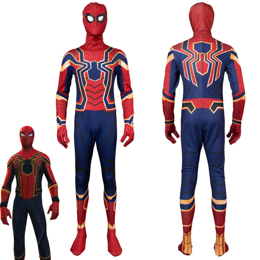 Avengers Captain America Civil War Iron Spidey Spider-Man Homecoming Spiderman Costume Peter Parker Tom Holland Cosplay Costume