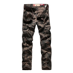 Image 2 - Mens Autumn Cargo Pants Men Camouflage Military Pants Casual Loose Comfortable MultiPocket Trousers Camo Joggers Cotton Flexible