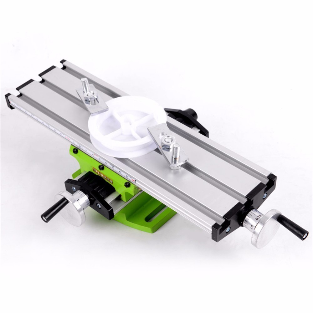 Mini 2 Axis Multifunctional Working Table Mini Precision Multi Function Table Milling Machine Bench Drill Vise mini multi function table saw bench drill grinding machine with 100w high power cutting machine tool accessories