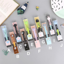 Fountain Pen With Ink 05mm Pink Green Kawaii Bear Cartoon Animal Stationery