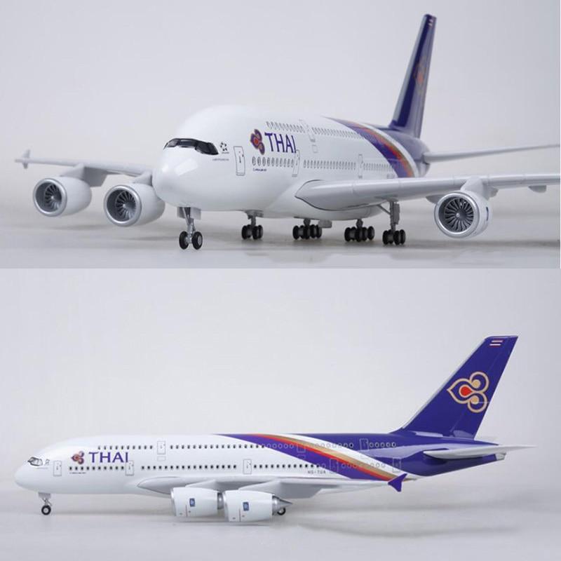 1/160 مقياس 50.5 CM طائرة ايرباص A380 تايلاند التايلاندية طيران نموذج W ضوء و عجلة دييكاست البلاستيك الراتنج الطائرة ل جمع-في سيارات لعبة ومجسمات معدنية من الألعاب والهوايات على  مجموعة 1