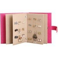 1pcs High Quality 18 5 14 4 5cm Jewelry Display Book Earrings Holder Travel Jewelry Box