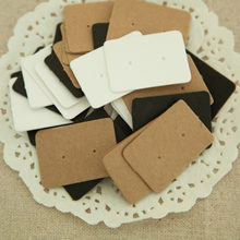 Earring Kraft Paper Tag 50pcs Ear Stud Hang Jewelry Display Card Ring