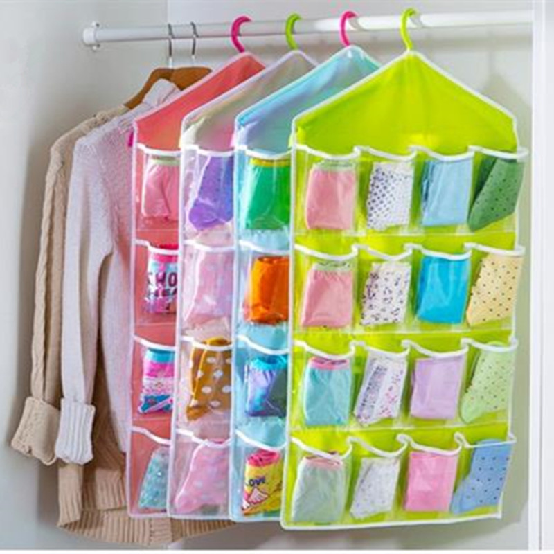 Foldable Wardrobe Hanging Bags Socks Briefs Organizer Clothing Hanger Underpants Storage ...