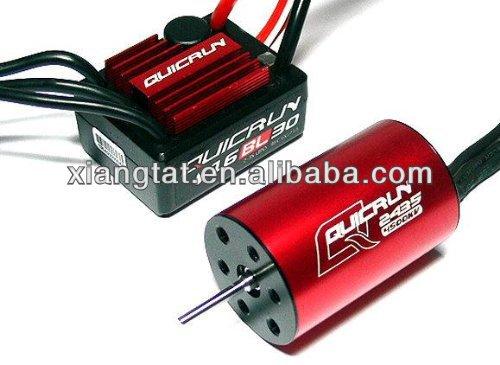 D'origine Hobbywing QuicRun-WP-16BL30 Sensorless Brushless 30A ESC + moteur kv4500 + CARTE de PROGRAMME pour 1/16 1/18 voiture
