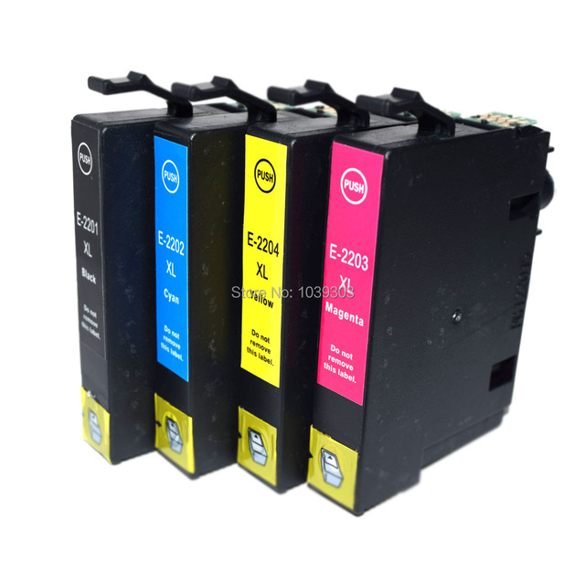 4pk Compatible T220xl T220 Ink Cartridge For Epson