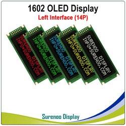 Реальный oled-дисплей, левый параллельный интерфейс, совместимый с 1602 162 16*2 символами, ЖК-модуль, ЖК-дисплей, LCM экран, встроенный WS0010
